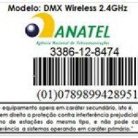 Selo Anatel DMX Wireless